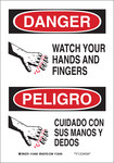 Brady B-555 Aluminum Rectangle White Equipment Safety Sign - 7 in Width x 10 in Height - Language English / Spanish - 124061