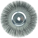 Weiler Steel Wheel Brush 0.016 in Bristle Diameter - Arbor Attachment - 15 in Outside Diameter - 1 1/4 in Center Hole Size - 08249