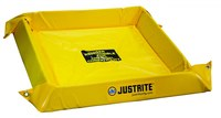 Justrite Yellow PVC 10 gal Portable Berm - 2 ft Width - 2 ft Length - 4 in Height - 697841-15672