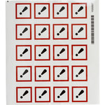 Brady 121193 White / Black / Red Diamond Polyester Chemical Hazard Label - 1.5 in Width - 1.5 in Height - B-7541