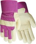 Red Steer 33160 Red Medium Grain Cowhide Leather Work Gloves - Wing Thumb - 33160-M