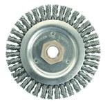 Weiler Steel Wheel Brush 0.02 in Bristle Diameter - Arbor Attachment - 4 1/2 in Outside Diameter - 13232