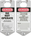 Brady Silver Anodized Aluminum Lockout/Tagout Hasp 65961 - 3 in Width - 7 1/4 in Height - 6 Padlock Capacity - 754476-65961