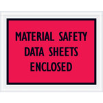 Red Packing List Enclosed Envelopes - 7 in x 5.5 in - 2 Mil Poly Thick - SHP-8280