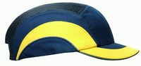 PIP Hardcap A1+ 282-ABS150 Blue High Density Polyethylene Cap Style Bump Cap - 2 in Brim - Buckle Adjustment - 038428-05503