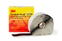 3M Scotch-Seal 2229 Black Insulating Tape - 1 in Width x 10 ft Length - 125 mil Thick - Electrically Insulating - 50335