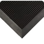 Wearwell 220 Black Outdoor Latex Carpeted Entry Mat - 3 ft Width - 5 ft Length
