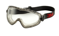 3M GoggleGear 2890 GG2891-SGAF Universal Polycarbonate Safety Goggle Clear Lens - Gray Frame - Indirect vent - Flexible Frame - 051131-27437
