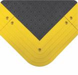 Wearwell Ergodeck Black Recycled Urethane Sponge Raised Squares Anti-Slip Mat - 42 in Width - 48 in Length - 715411-00490