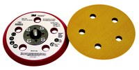 3M Hookit 05855 Hard Red Disc Pad - 5 in DIA - 3/8 in Thick - 5/16 - 24 External Thread Attachment