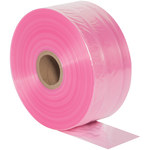 Shipping Supply Pink Anti-Static Poly Tubing - 4 in x 2150 ft - 2 Mil Thick - SHP-6339