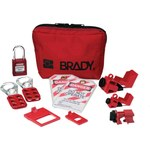 Brady Black on Red Nylon Lockout/Tagout Kit - 2 in Depth - 4.75 in Height - 754473-70140