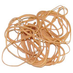 Shipping Supply Brown Rubber Bands - 3 in x 1/16 in - SHP-11535