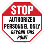 Brady Aluminum Octagon White Stop Signs, Traffic Control Signs & Banners Sign - 24 in Width x 24 in Height - 103645
