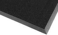 Notrax Rubber Brush 345 Black Outdoor SBR Rubber Carpeted Entry Mat - 32 in Width - 24 in Length - Rubber Backing Material - 345 24 X 32