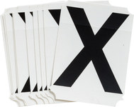 Brady Quik-Align 8215-X Black Vinyl Letter Label - Outdoor - 3 in Height - 3 in Character Height - B-933