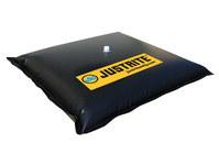 Justrite 28468 Black PVC Drain Cover - 30 in Width - 30 in Length - 697841-15732