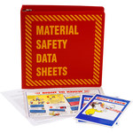 Brady Prinzing Yellow on Red MSDS & GHS Data Sheet Binder - MATERIAL SAFETY DATA SHEETS - English - 754473-43575