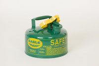Eagle Green Galvanized Steel Self-Closing 1 gal Safety Can - 8 in Height - 9 in Overall Diameter - 048441-00354