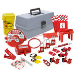 Brady Gray Polyethylene Lockout/Tagout Kit - 8 in Depth - 14 in Width - 7.5 in Height - 754473-63170