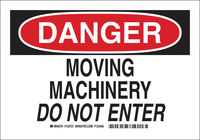 Brady B-555 Aluminum Rectangle White Equipment Safety Sign - 10 in Width x 7 in Height - 123719