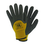 West Chester Barracuda 713WHPTND Yellow/Gray Large Nylon Cold Condition Gloves - Latex Coating - 713WHPTND/L