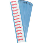 Brady 149346 Red on White Cloth Inspection & Calibration Labels - 1.5 in Width - 0.625 in Height - B-500