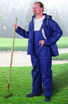 Dunlop Sitex 76599 Blue Large Polyester/PVC Rain Suit - 2 Pockets - Fits 54 in Chest - 30 in Inseam - 791079-12510