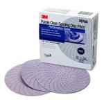 3M Hookit Coated Aluminum Oxide Purple Hook & Loop Disc - Paper Backing - A Weight - P800 Grit - Super Fine - 6 in Diameter - 30760