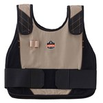 Ergodyne Chill-Its Khaki Large/XL Cotton Cooling Vest - 720476-12204