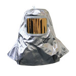 Chicago Protective Apparel Gold (Film) Lexan Aluminized Rayon Heat & Fire-Resistant Hood - With Window - 7 in Width - 11 in Height - 0647-ARH