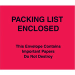 Red Packing List Enclosed Envelopes - 7 in x 6 in - 2 Mil Poly Thick - SHP-8278