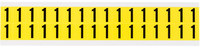 Brady 34 Series 3420-1 Black on Yellow Vinyl Cloth Number Label - Indoor - 9/16 in Width - 3/4 in Height - 5/8 in Character Height - B-498