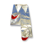 Chicago Protective Apparel Large Aluminized Rayon Attached Hip Fire Resistant Chaps - HL777-AR LG