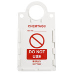 Brady Chemtag CHEM-CTHUSA01 Red on White Rectangle Plastic Hazardous Substance Tag Holder - 6 in Width - 11 1/4 in Height - 14277