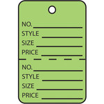 Shipping Supply Green Retail Tags - 11443