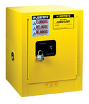 Justrite Sure-Grip EX 4 gal Yellow Steel Hazardous Material Storage Cabinet - 17 in Width - 22 in Height - Bench Top - 697841-11201