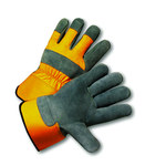 West Chester 500Y Yellow 3XL Split Cowhide Leather Work Gloves - Wing Thumb - 11.5 in Length - 500Y/XXXL