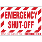 Brady 86203 Red on White Polyester Equipment Safety Label - 5 in Width - 3 1/2 in Height - B-302