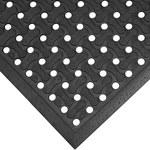 Black Anti-Slip Drainage Mat - 3 ft x 5 ft - SHP-8751