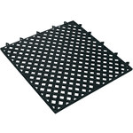 Shipping Supply Lok-Tyle Black Drainage Mat - 12 in Length - SHP-8755