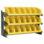Akro-Mils 250 lb Gray Steel 16 ga Fixed Rack - 36 3/4 in Overall Length - 3 Bins - Bins Included - APRBENCH312
