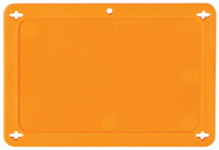 Brady 87695 Orange Rectangle Plastic Blank Valve Tag - 4 in Width - 2 1/2 in Height - B-418