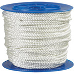 White Twisted Nylon Rope - 3/8 in Thick - SHP-9989