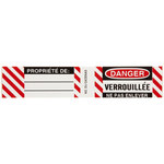 Brady 50283 Black / Red on White Rectangle Vinyl Lockout / Tagout Label - 4 1/2 in Width - 3/4 in Height - B-826