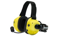 Sonetics Yellow Communication Headset - 24 hr Battery Powered - 24 dB NRR - APX377-BH