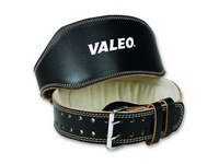 Valeo Black Large Leather Back Support Belt - No Lumbar Pad - 4 in Width - 38 to 44 in Waist Sizes - 736097-41904