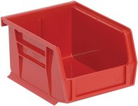 Quantum Storage 10 lb Red Polypropylene Hanging / Stacking Stack Bin - 5 3/8 in Length - 4 1/8 in Width - 3 in Height - 03577