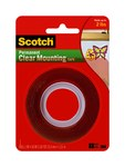 3M Scotch 4010 Clear Foam Mounting Tape - 1 in Width x 60 in Length -.02 in Thick - 76272