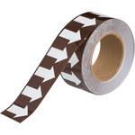 Brady 109938 White on Brown Pipe Banding Tape - 2 in Width - 30 yd Length - B-302